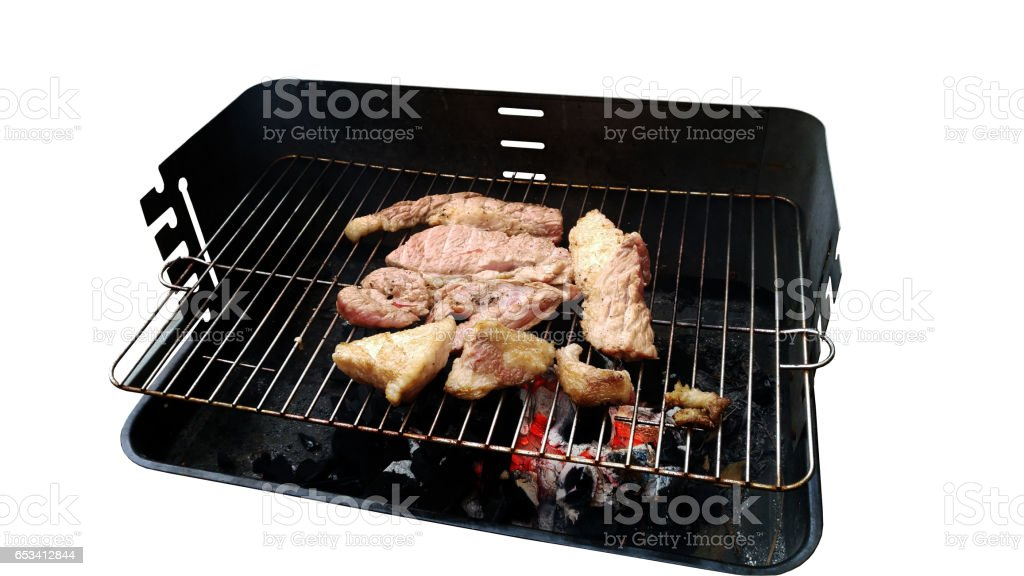 barbecue with clipping path stock photo