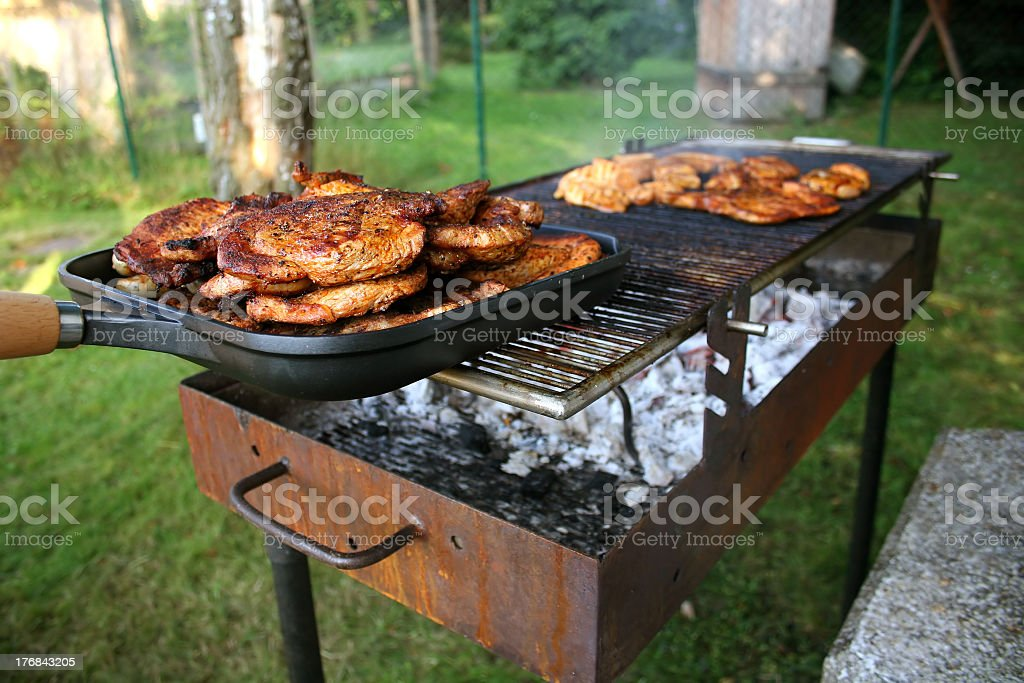 Barbecue with Steaks stock photo