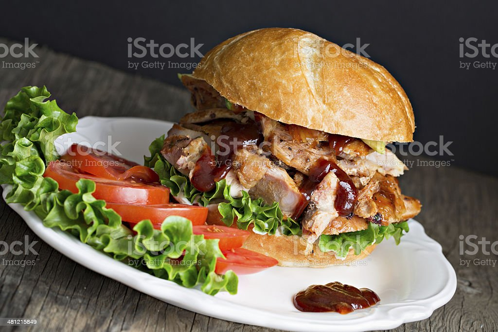 Barbecued Chicken Sandwich stock photo
