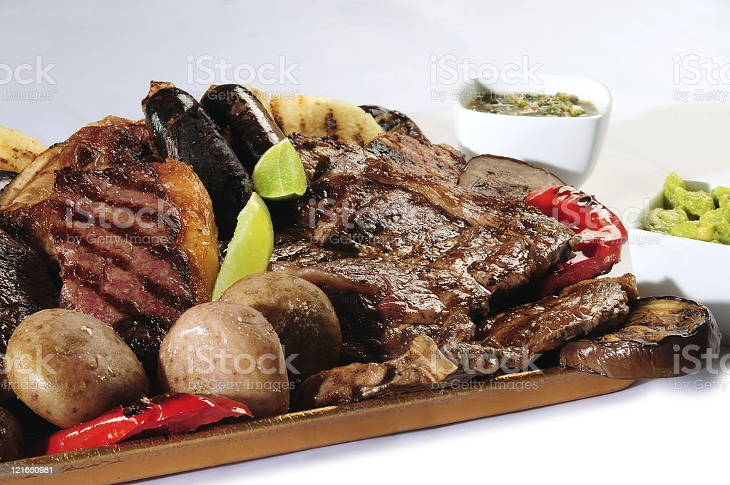 Barbecued food. royalty-free stock photo