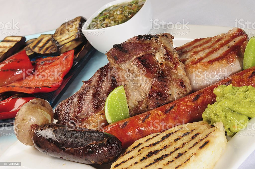 Barbecued food. stock photo