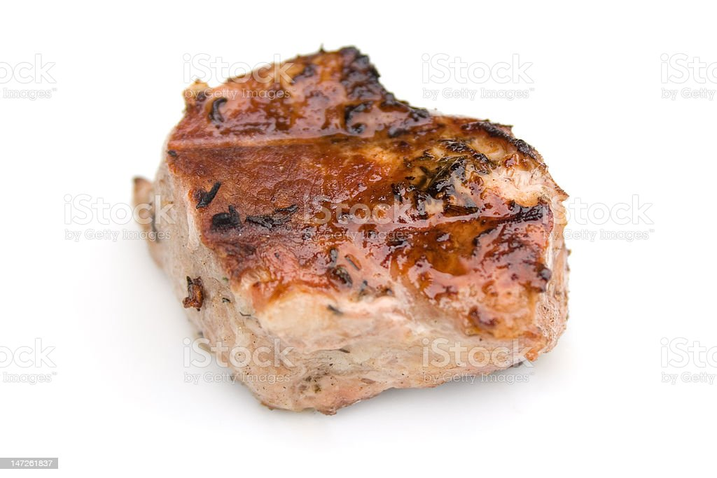 Barbecued Piece of Meat royalty-free stock photo
