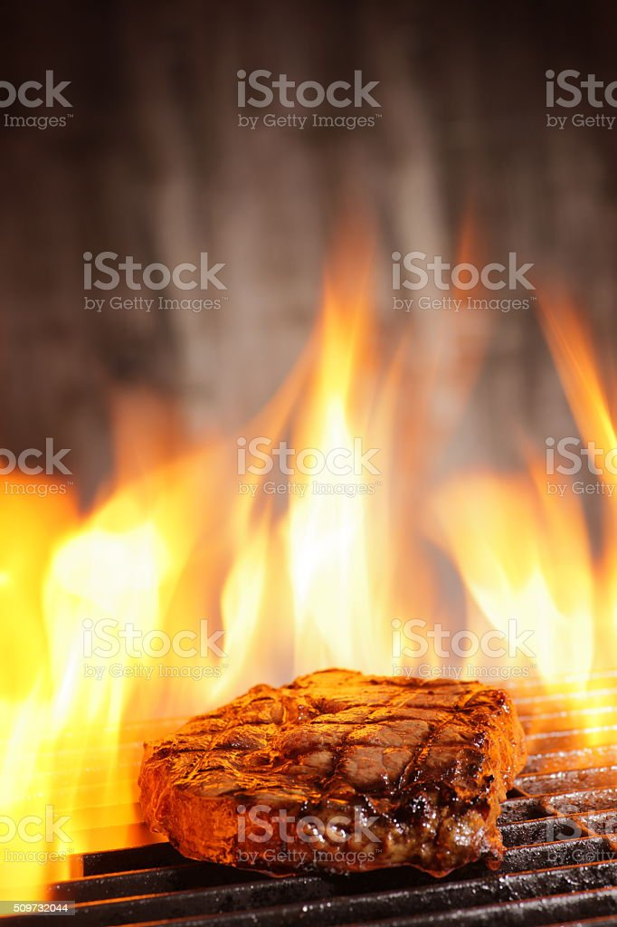 Barbecued Steak stock photo