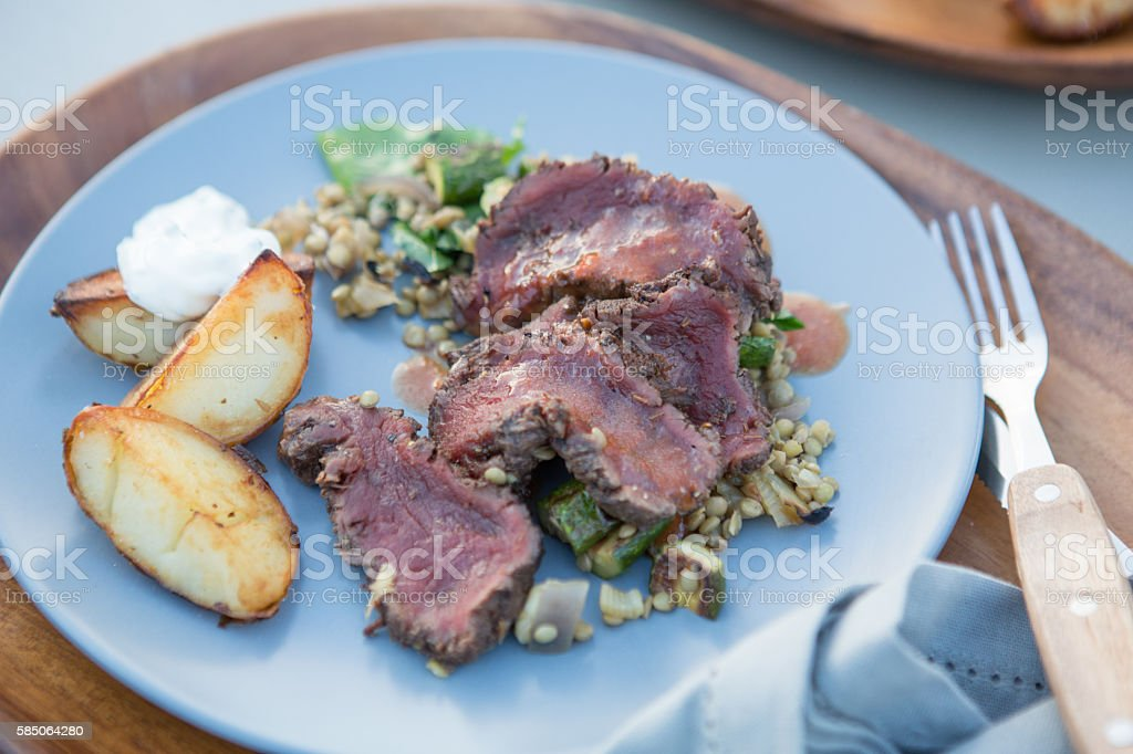 Barbecued Venison stock photo
