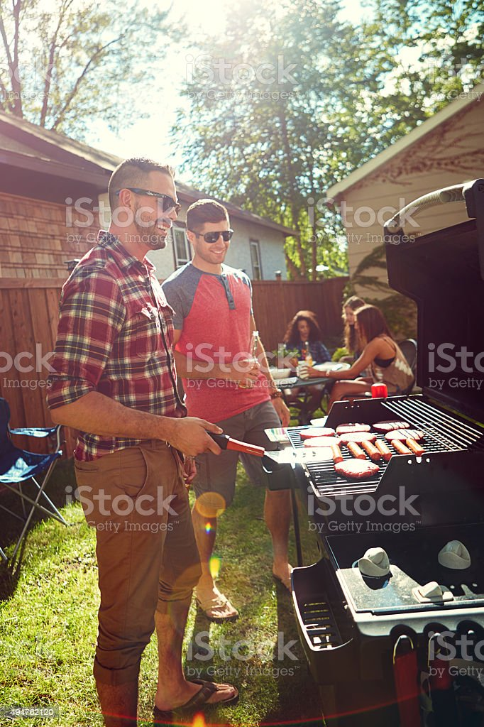 Barbecues are the best! stock photo