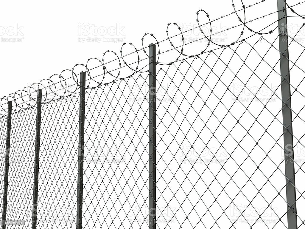 barbed wire 02 royalty-free stock photo