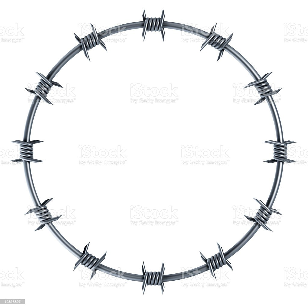 barbed wire circle-shaped royalty-free stock photo