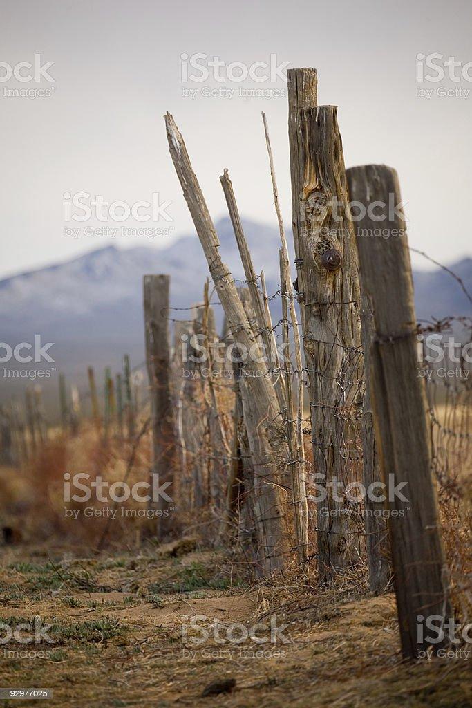 Filo spinato recinzione foto stock royalty-free