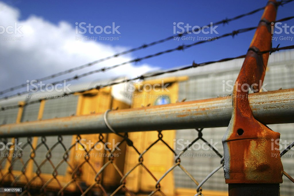 Barbed Wire Railway royalty-free stock photo