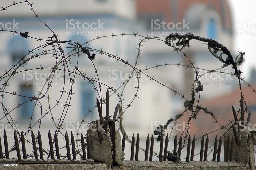 Barbed Wire - Security Fence royalty-free stock photo