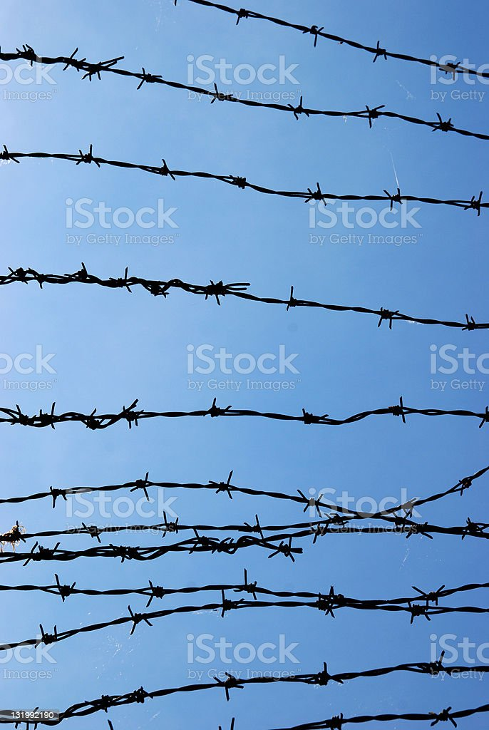 Barbed wire silhouette royalty-free stock photo