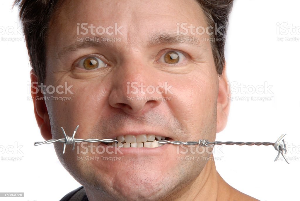 Barbed words stock photo