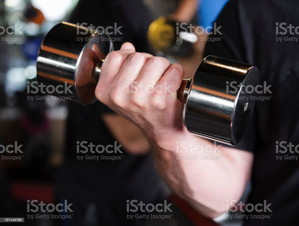 Barbell in Hand royalty-free stock photo