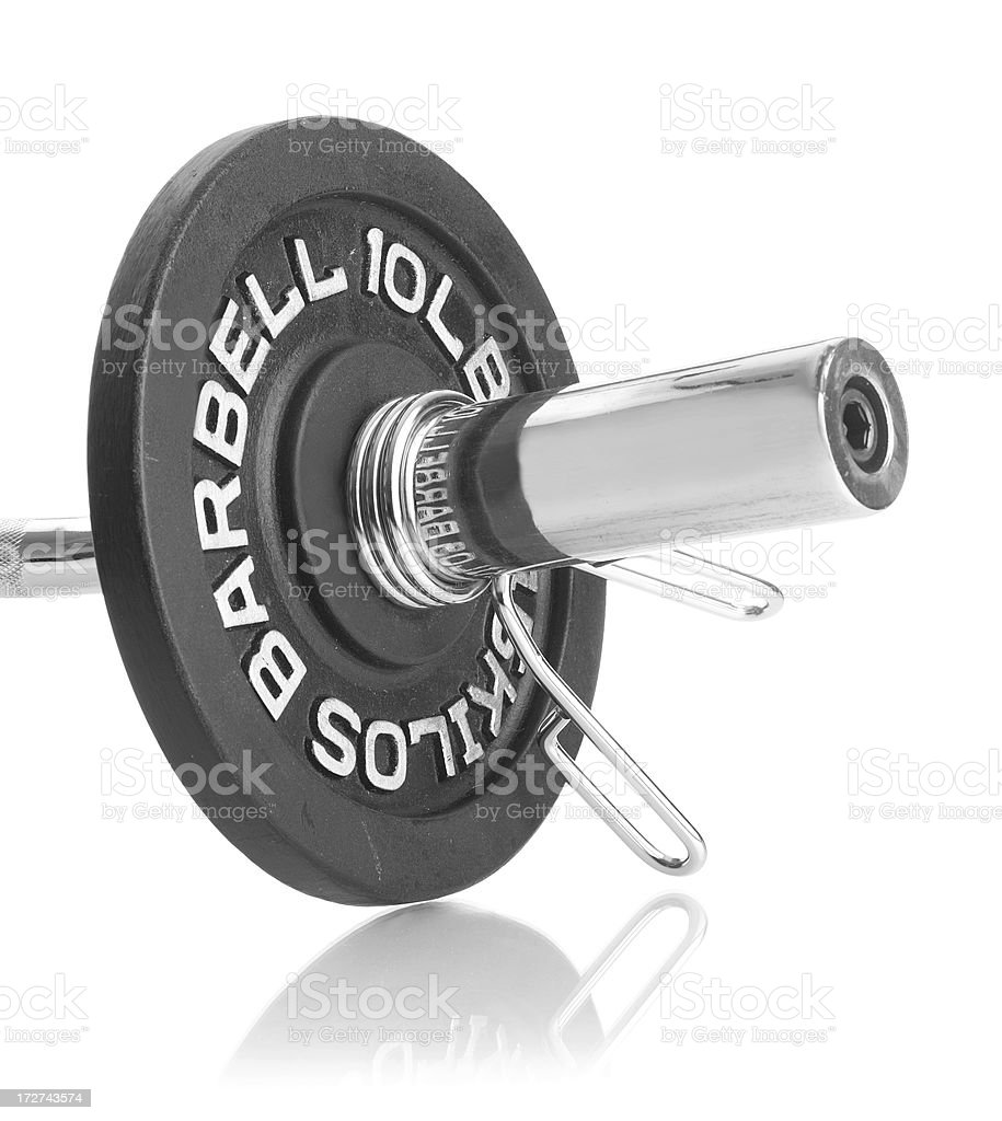 Barbell on Curl Bar royalty-free stock photo