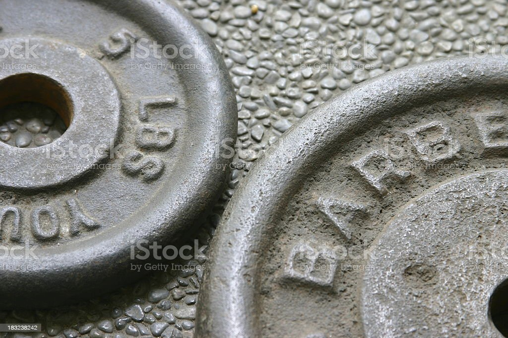 Barbell Pair royalty-free stock photo