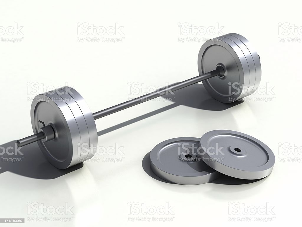 3D barbell royalty-free stock photo