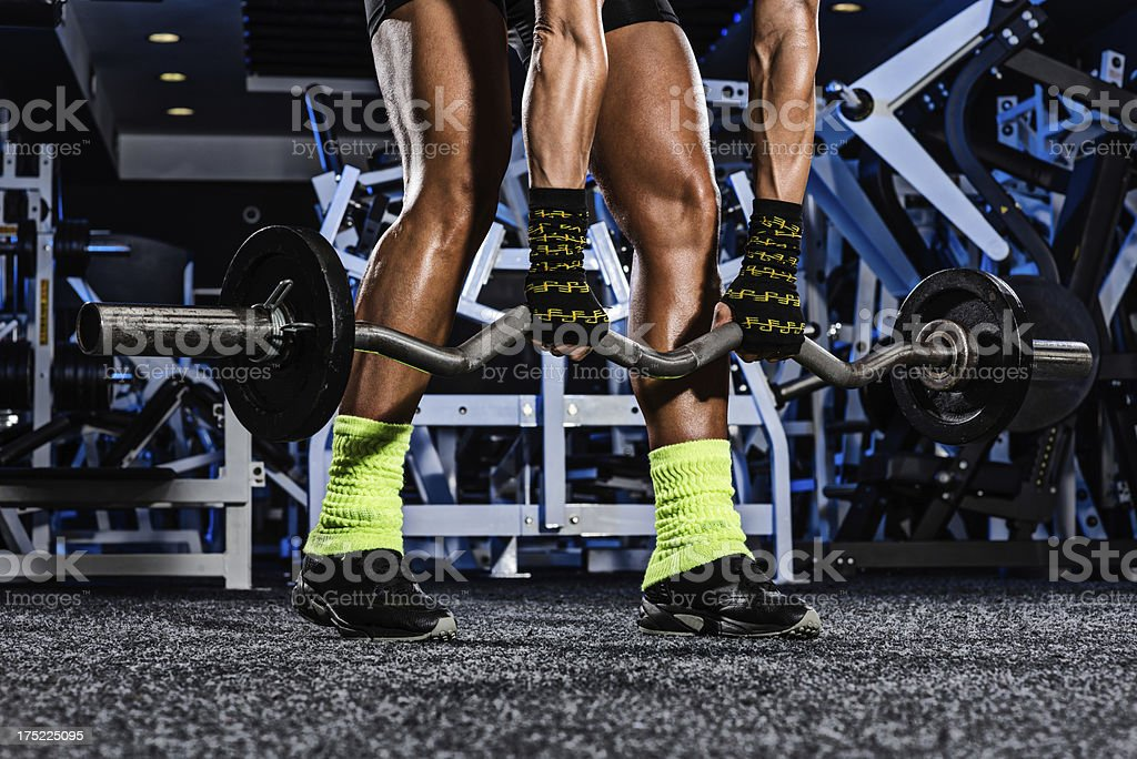 EZ barbell royalty-free stock photo