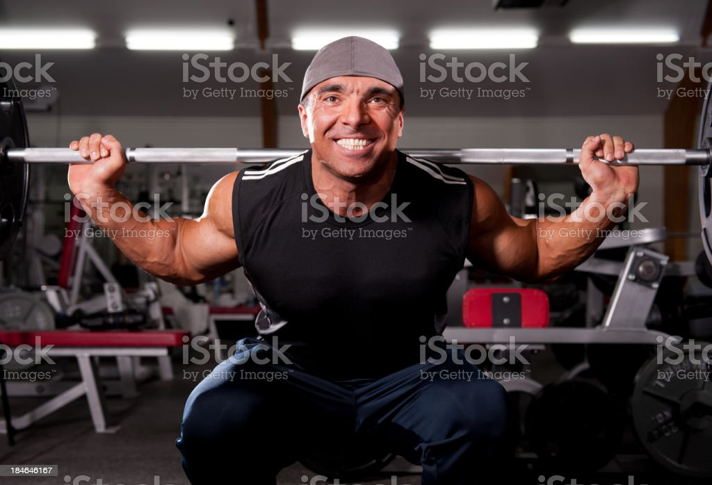 Barbell Squat royalty-free stock photo