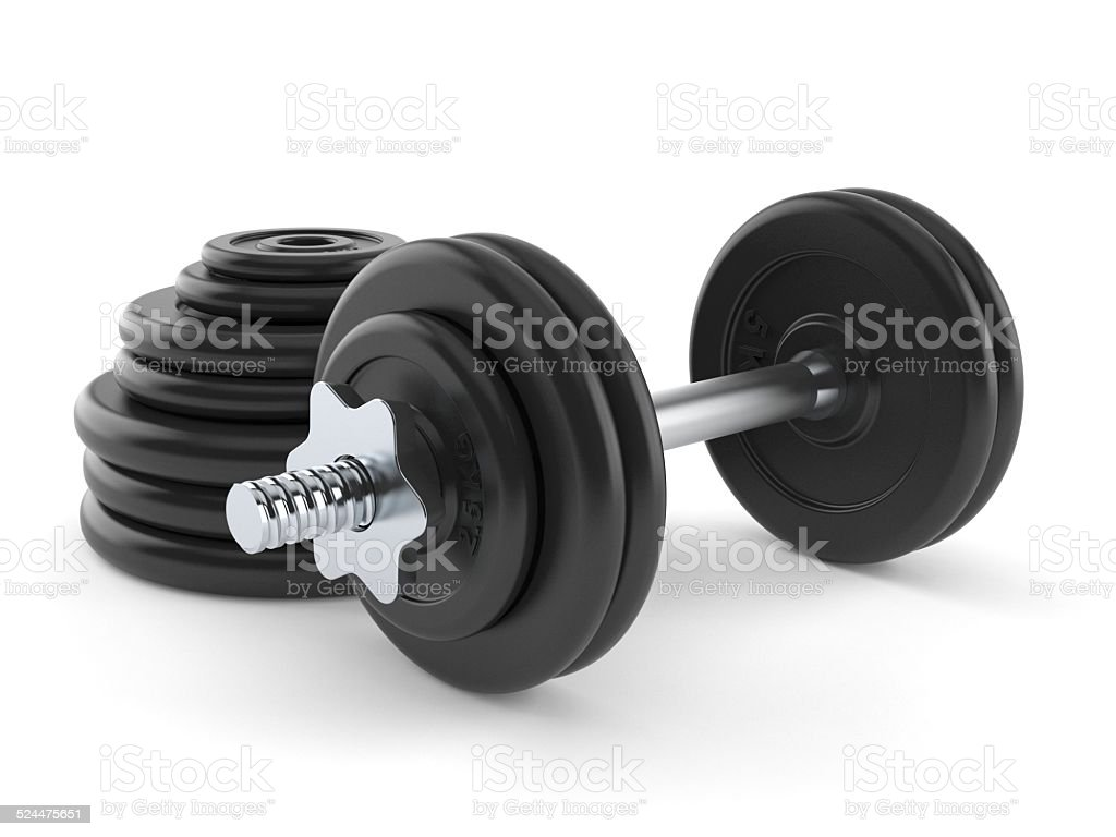 Barbells stock photo