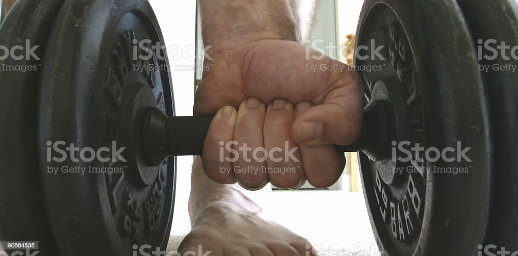 Barbells royalty-free stock photo