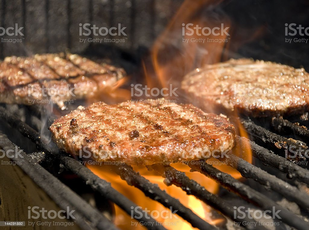 Barbeque Char-Broiled Burger stock photo