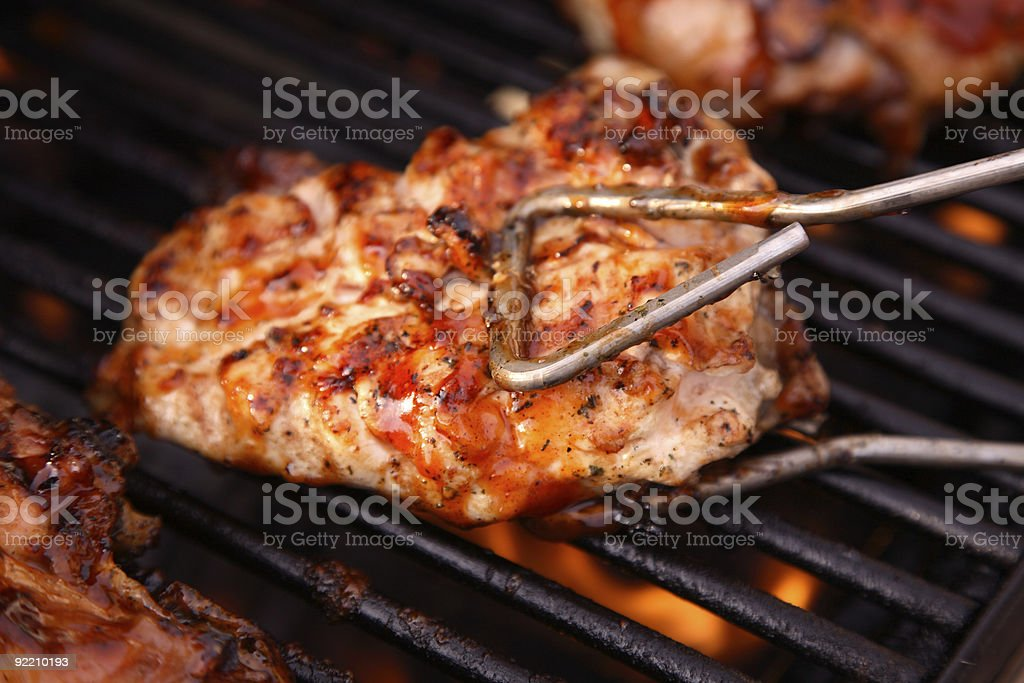 Barbeque Chicken on the Grill royalty-free stock photo