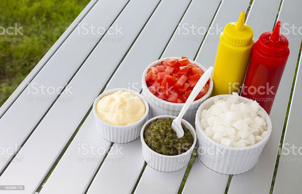 Barbeque Condiments royalty-free stock photo