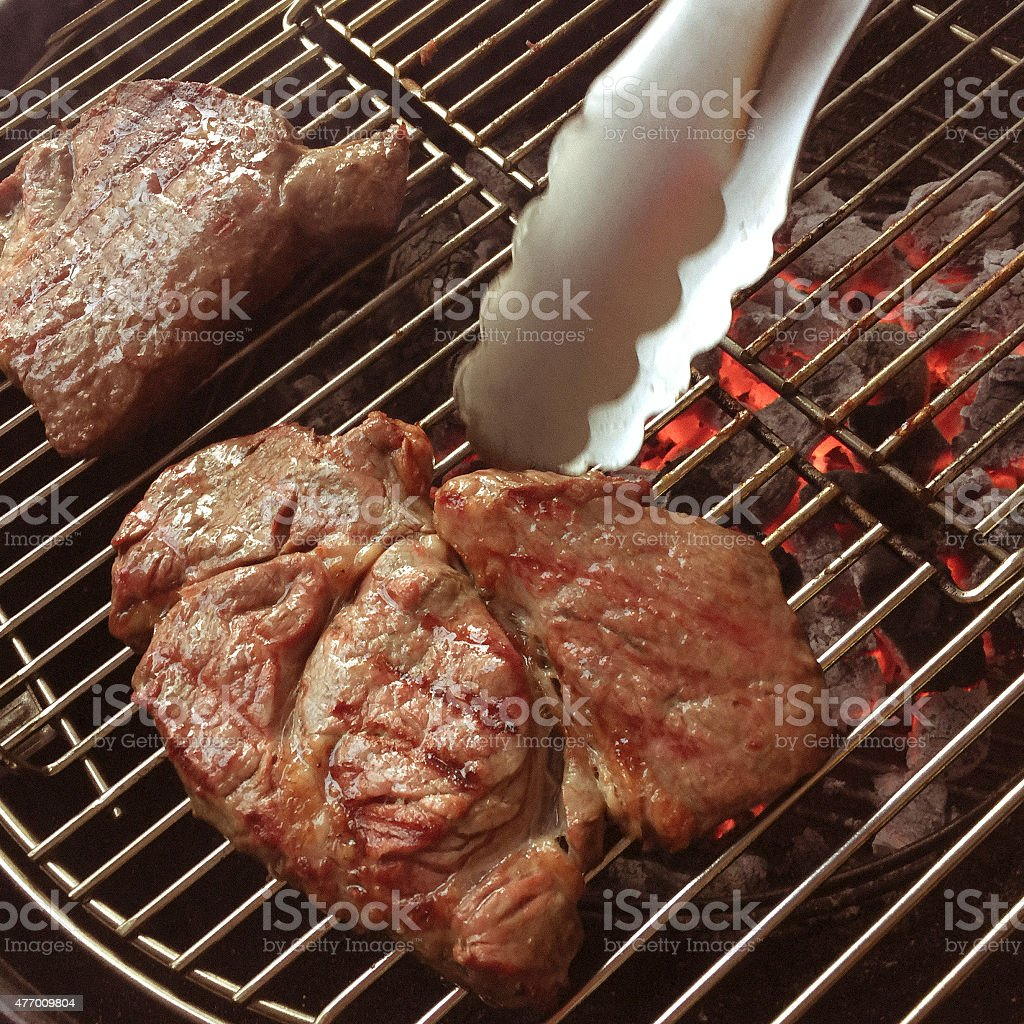 Barbeque Grill and Coals stock photo