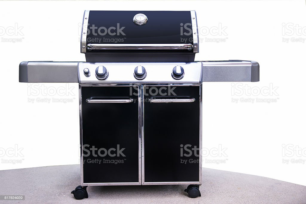 Barbeque Grill on White stock photo