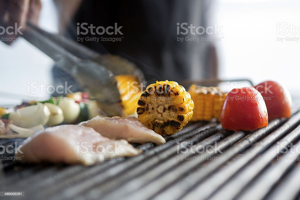 barbeque grilled stock photo
