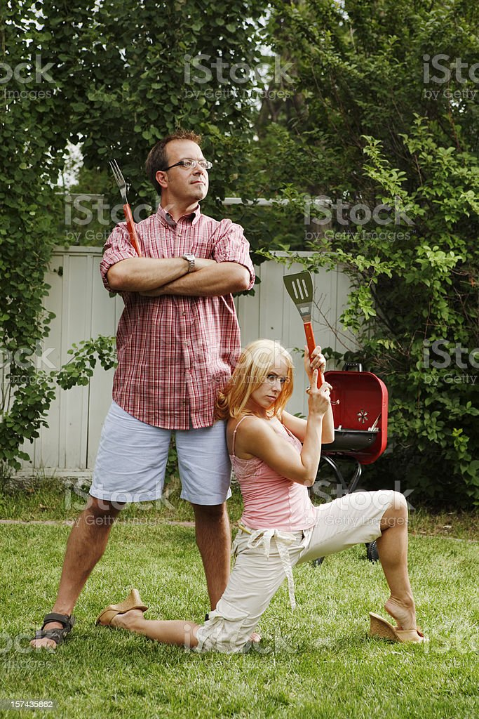 barbeque master: the idol of all grillers stock photo