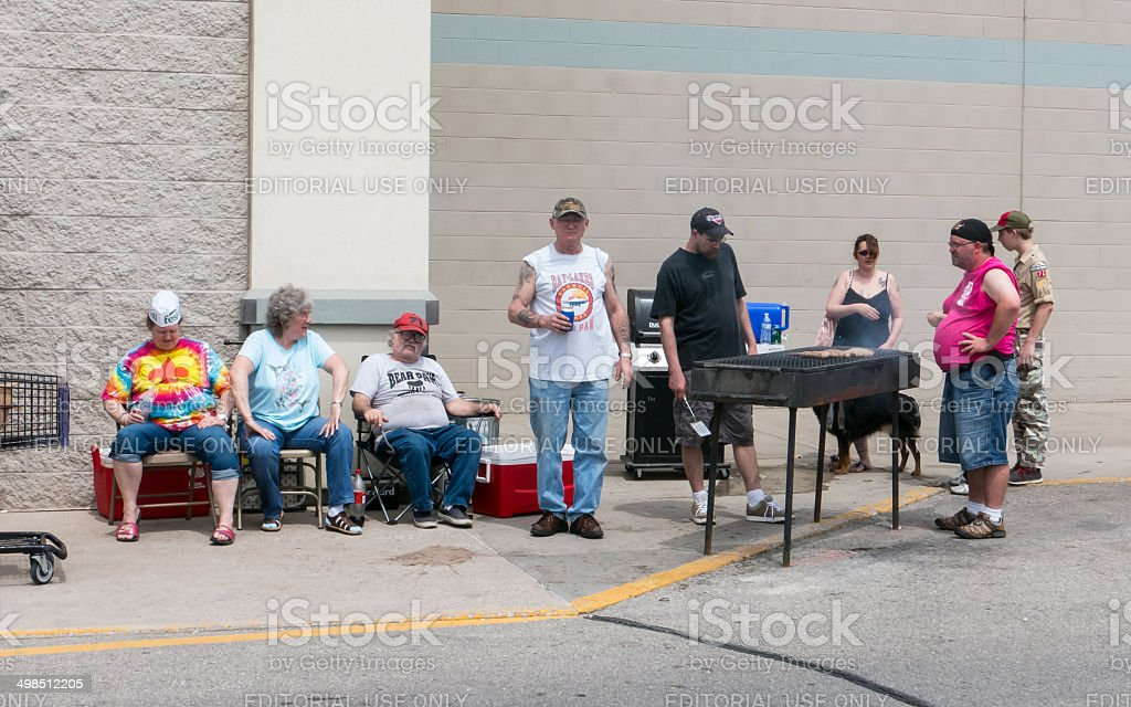 Barbeque on Mothers day stock photo