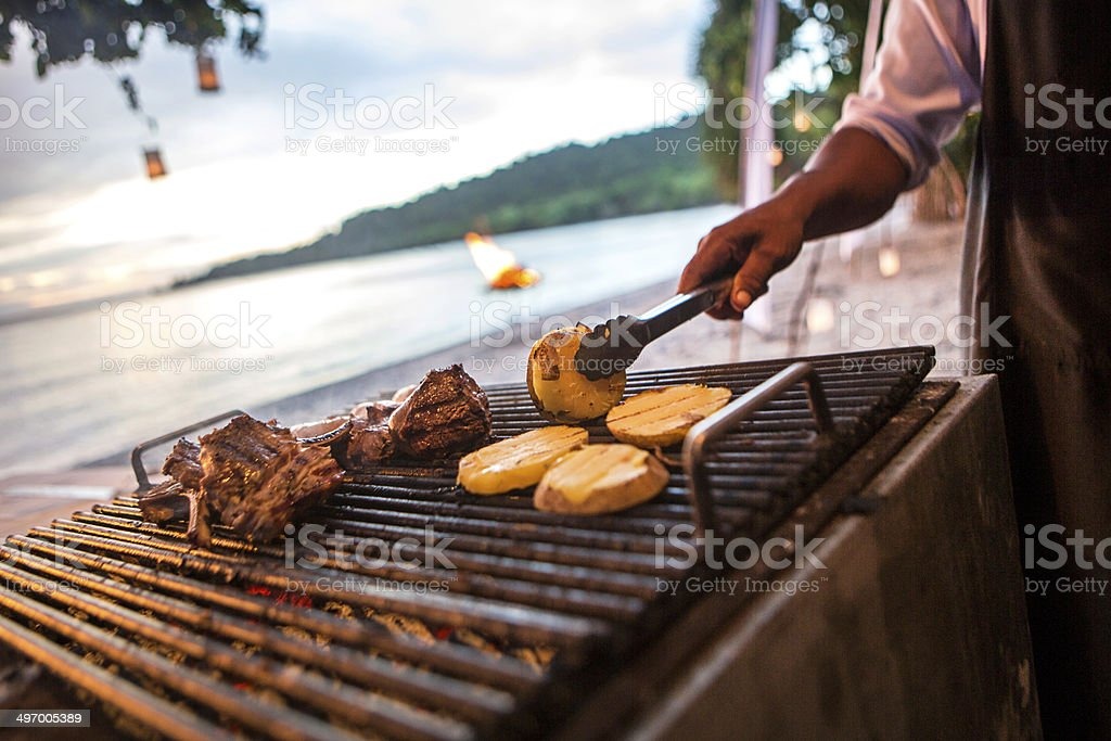 Barbeque pork ribs stock photo