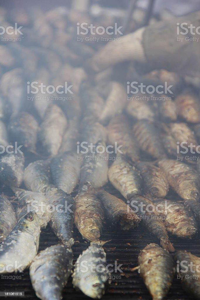 Barbeque Sardines royalty-free stock photo