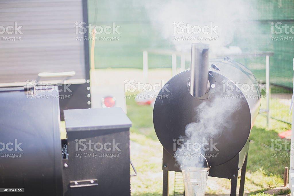 Barbeque Smoker stock photo