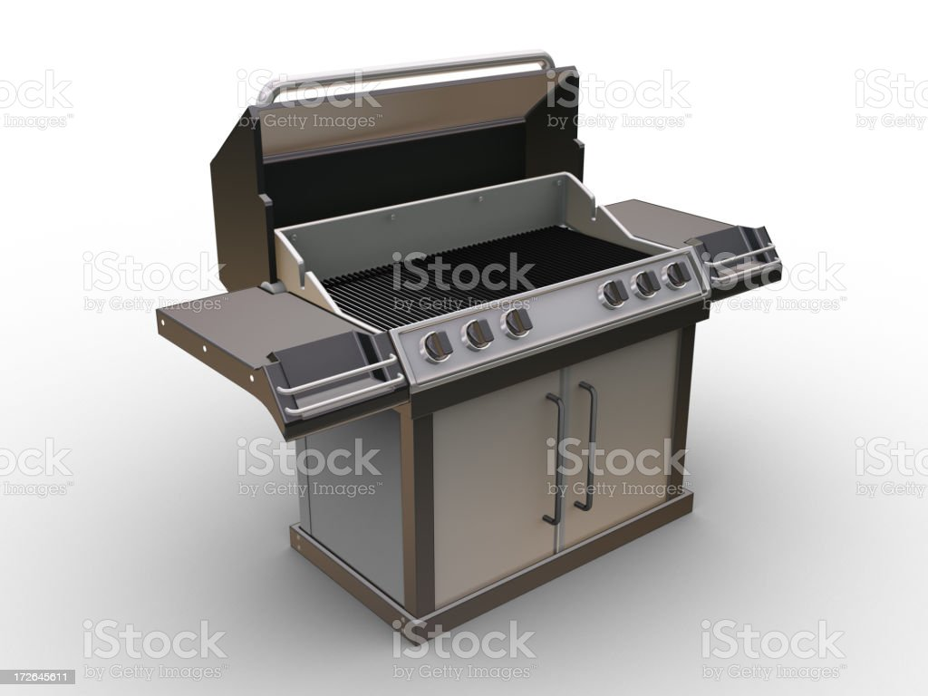 Barbeque w/clipping paths 01 royalty-free stock photo