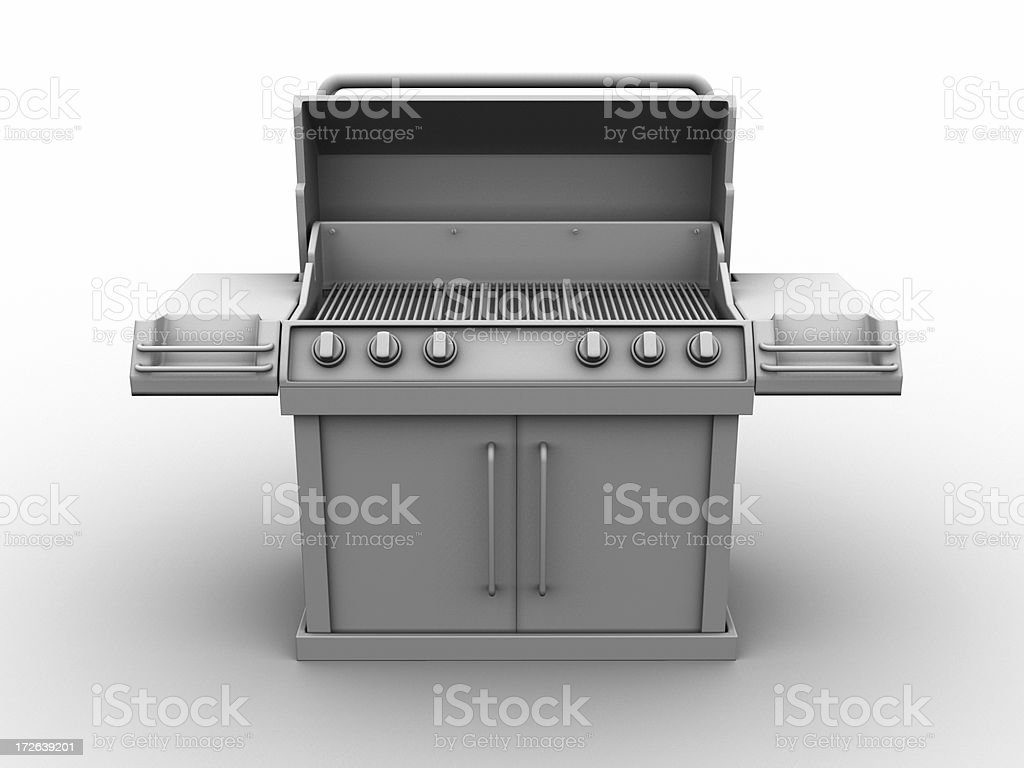 Barbeque w/clipping paths 04 stock photo