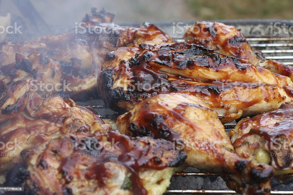 Barbequed Chicken royalty-free stock photo