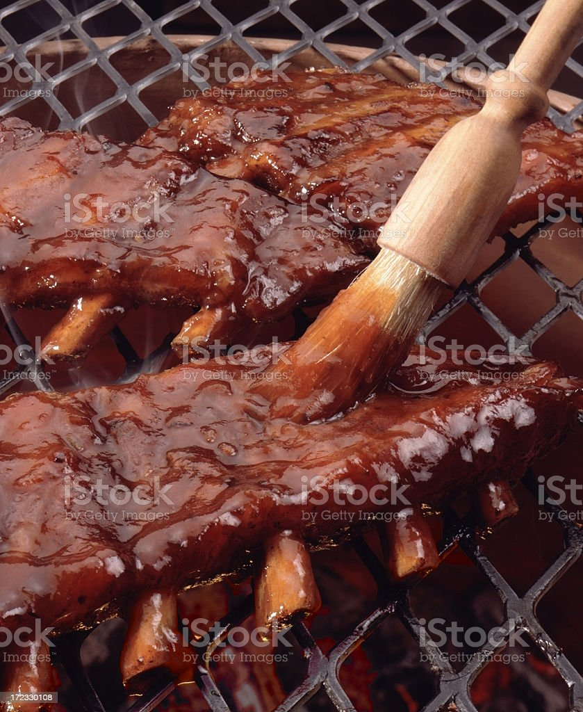 Barbequed Ribs stock photo