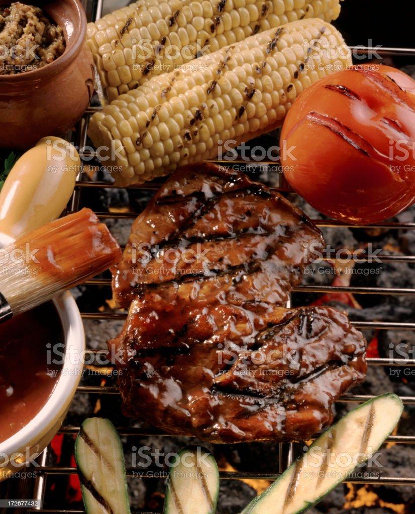 Barbequed Steak stock photo
