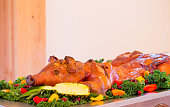 Barbequed Whole Pig at Wedding