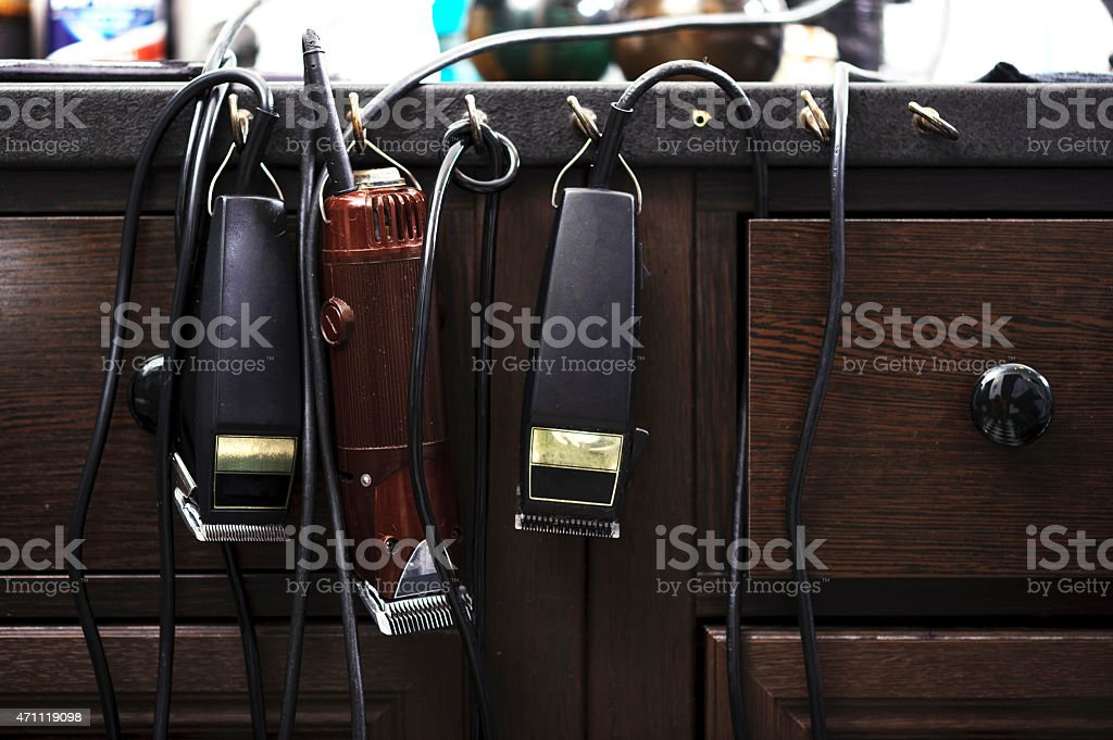 Barber accessories and tools stock photo