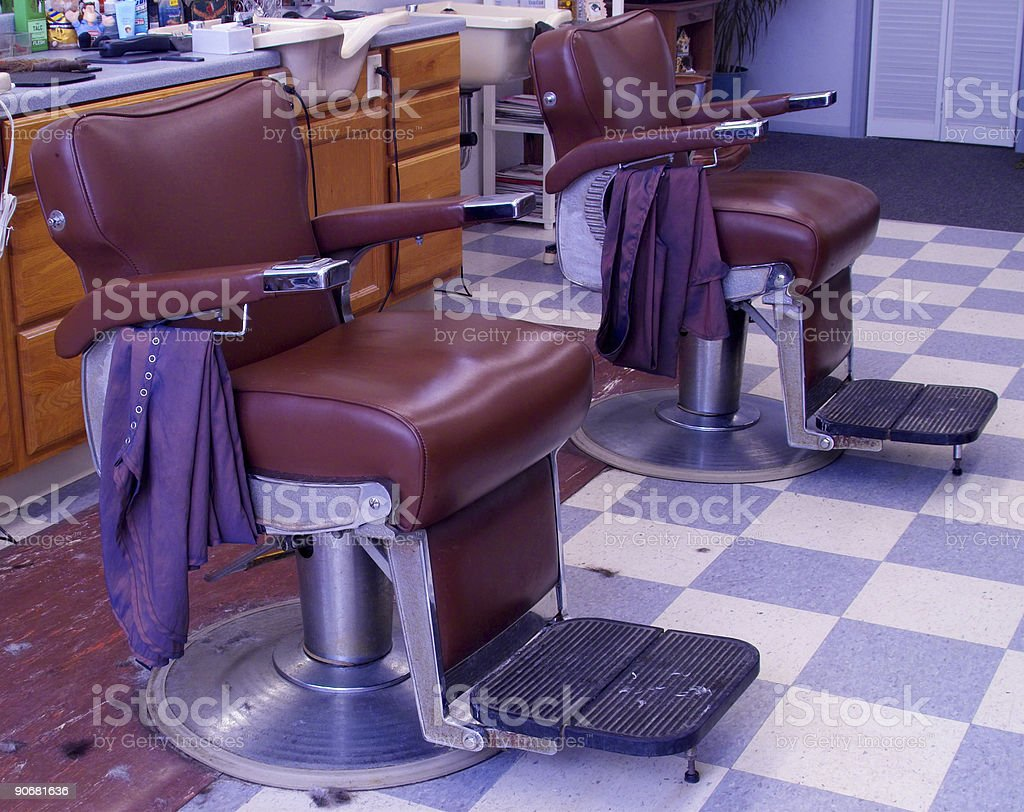 barber chairs royalty-free stock photo