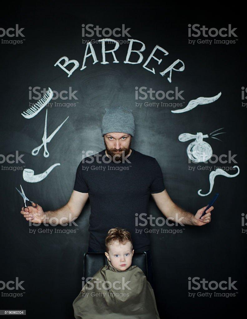 Barber stock photo