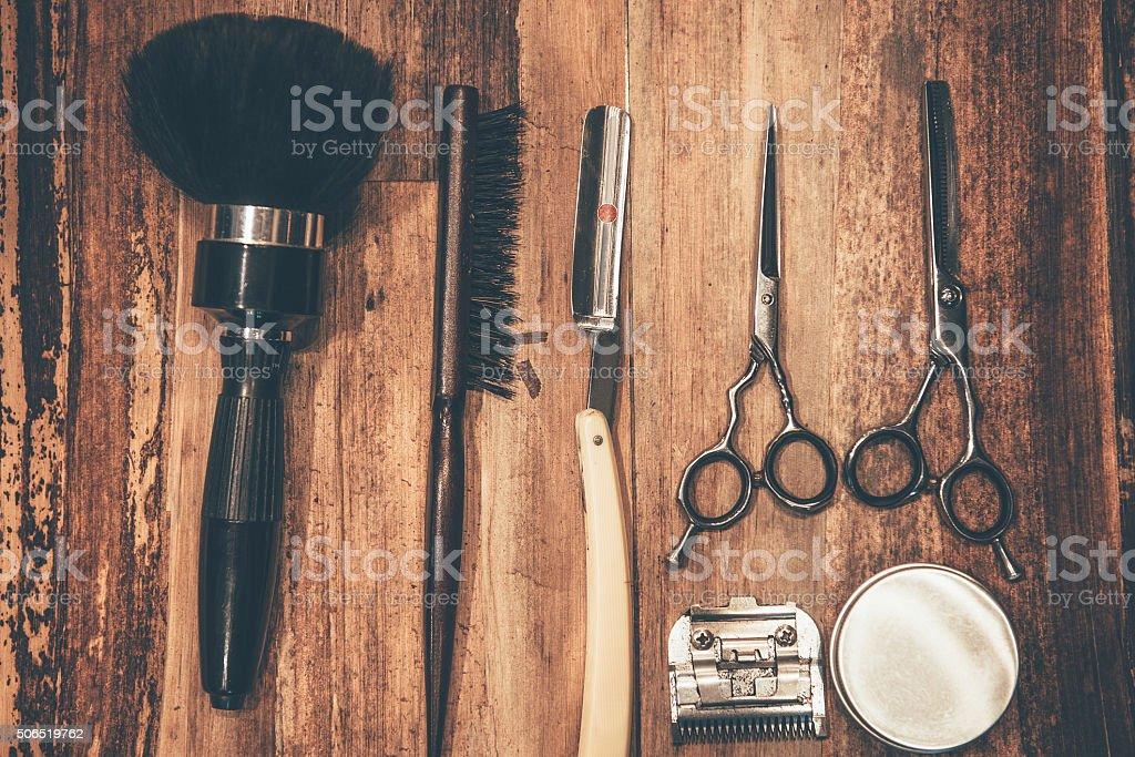 Barber tools. stock photo