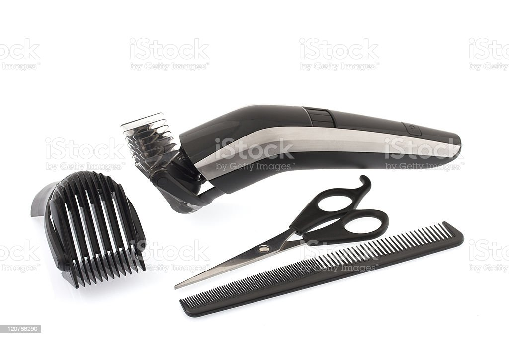 Barber work tools royalty-free stock photo
