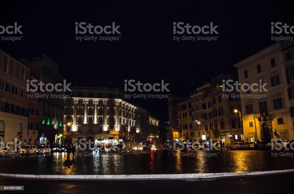 Piazza Barberini stock photo