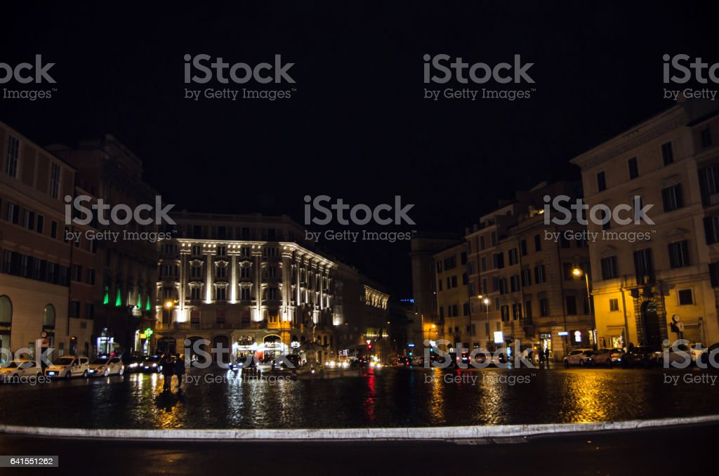 Piazza Barberini stock photo