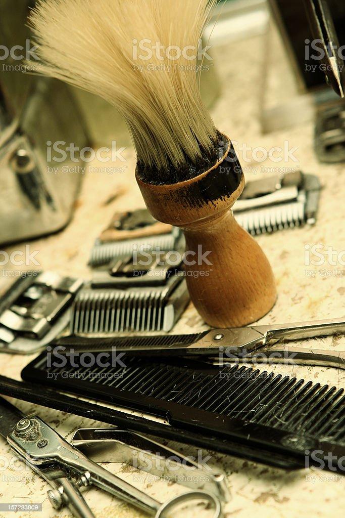 Barbershop Tools royalty-free stock photo