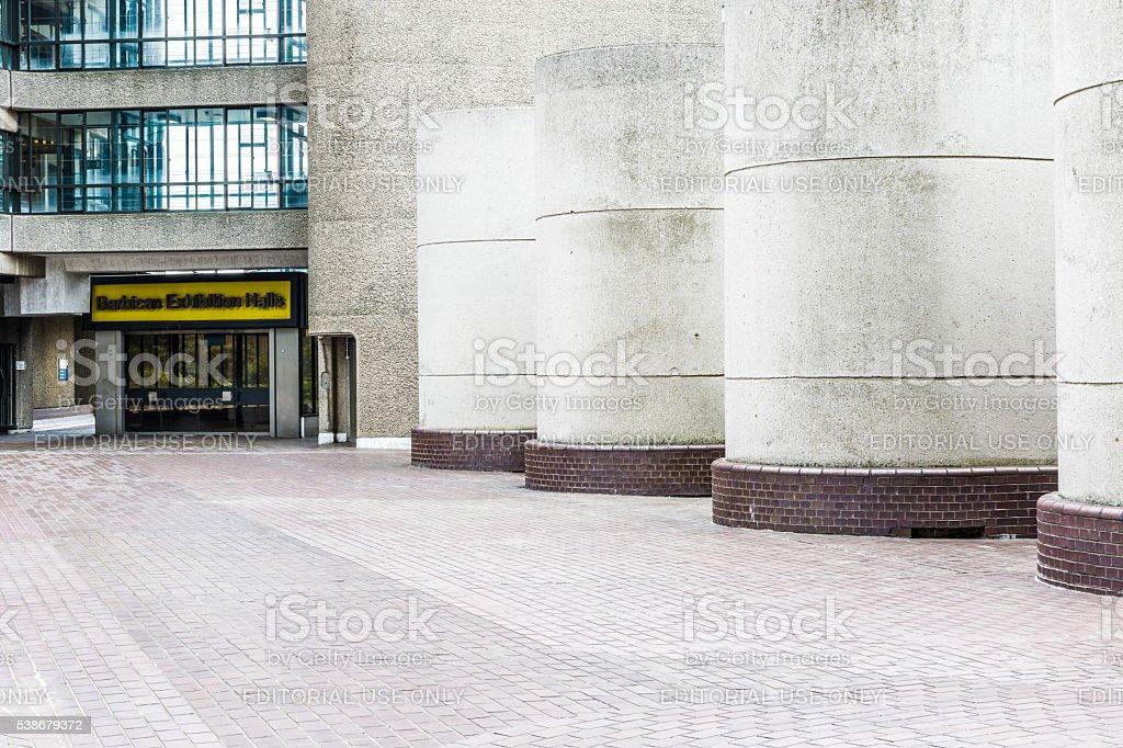 Barbican Exhibition Hall stock photo